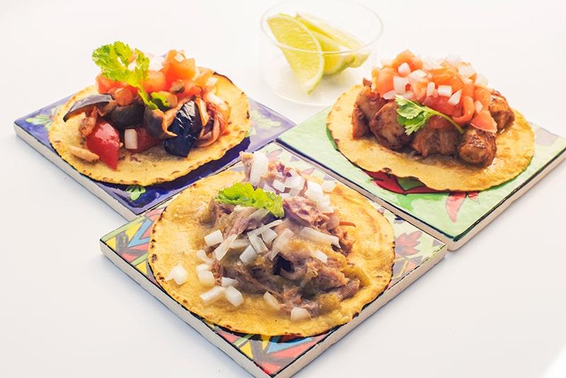 Tacos 3P Pork, Chicken, Mushroom